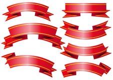 Banderas del vector Foto de archivo libre de regalías