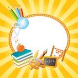 Banderas del vector de la escuela Imágenes de archivo libres de regalías
