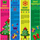 Banderas del vector de la Navidad   Fotografía de archivo libre de regalías