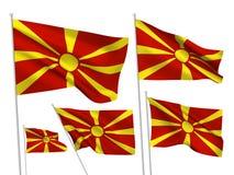 Banderas del vector de Macedonia Imagen de archivo libre de regalías