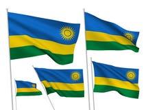 Banderas del vector de Rwanda