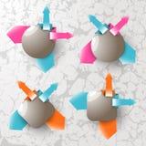 Banderas del vector para la información Fotografía de archivo libre de regalías