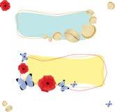 Banderas del verano Foto de archivo libre de regalías