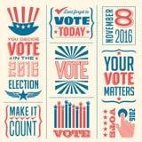 Banderas del voto Foto de archivo libre de regalías