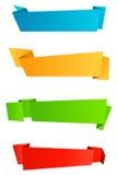 Banderas del Web Imagen de archivo