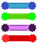Banderas del Web Imágenes de archivo libres de regalías