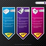 Banderas del Web con los productos