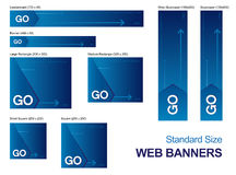 Banderas del Web de la talla estándar Fotografía de archivo