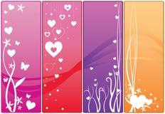 Banderas del Web de la tarjeta del día de San Valentín Foto de archivo libre de regalías