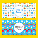 Banderas del web de las vacaciones de verano Foto de archivo