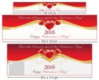 Banderas del web del día de tarjeta del día de San Valentín libre illustration