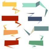 Banderas del Web del estilo de Origami Imagen de archivo libre de regalías