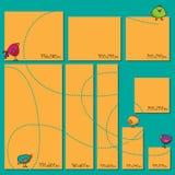 Banderas del web del tamaño estándar fijadas Banderas del Web del vector Imagen de archivo