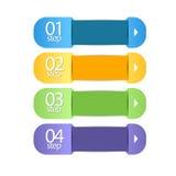 Banderas del web en números EPS Vector Foto de archivo libre de regalías