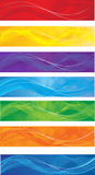 Banderas del Web fijadas Imagen de archivo