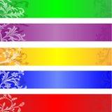Banderas del Web site Foto de archivo