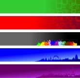 Banderas del Web site Foto de archivo libre de regalías
