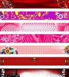 Banderas del Web site. tallas 730x90. Imágenes de archivo libres de regalías