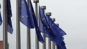 Banderas delante de la Comisión Europea metrajes