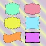 Banderas dibujadas mano coloreadas, marcos para el texto Vector libre illustration