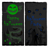 Banderas dos de Halloween stock de ilustración