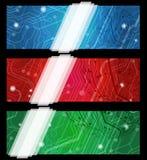 Banderas eclécticas de la tarjeta ilustración del vector