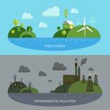 Banderas ecológicas del clima Fotografía de archivo
