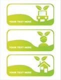banderas ecológicas verdes Fotografía de archivo libre de regalías