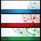 Banderas eléctricas de la tarjeta ilustración del vector