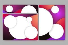 Banderas elegantes abstractas fijadas de plantillas libre illustration
