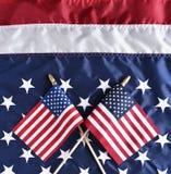 Banderas en bandera Fotografía de archivo