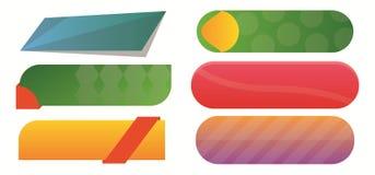 Banderas en blanco del vector Fotografía de archivo libre de regalías