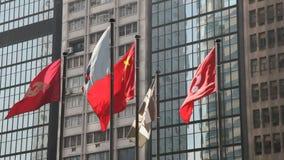 Banderas en Hong Kong almacen de metraje de vídeo