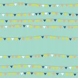 Banderas en modelo inconsútil de la secuencia empavesado Imágenes de archivo libres de regalías
