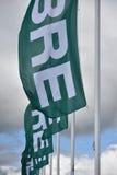 Banderas en polos Fotografía de archivo libre de regalías