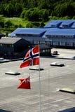 Banderas en Tromso Foto de archivo libre de regalías