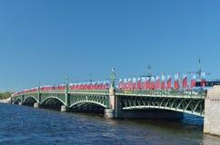 Banderas en Victory Day Imagen de archivo libre de regalías