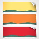 Banderas encrespadas primavera Foto de archivo libre de regalías