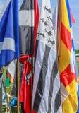 Banderas escocesas de los juegos Imagenes de archivo