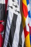 Banderas escocesas del clan Fotos de archivo libres de regalías