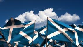 Banderas escocesas que agitan libre illustration