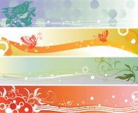 Banderas estacionales Imagen de archivo libre de regalías