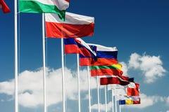 Banderas europeas Foto de archivo