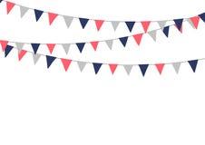 Banderas festivas del empavesado Decoraciones del día de fiesta Fotos de archivo