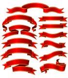 Banderas fijadas Imágenes de archivo libres de regalías