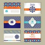 Banderas fijadas de diseño étnico Sistema del extracto de la religión de la disposición Foto de archivo