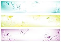 Banderas florales Imagen de archivo libre de regalías