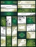 Banderas florales adornadas horizontales y verticales del vintage Imagenes de archivo