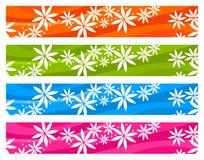 Banderas florales de la estación colorida libre illustration