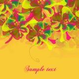 Banderas florales del vector Imágenes de archivo libres de regalías
